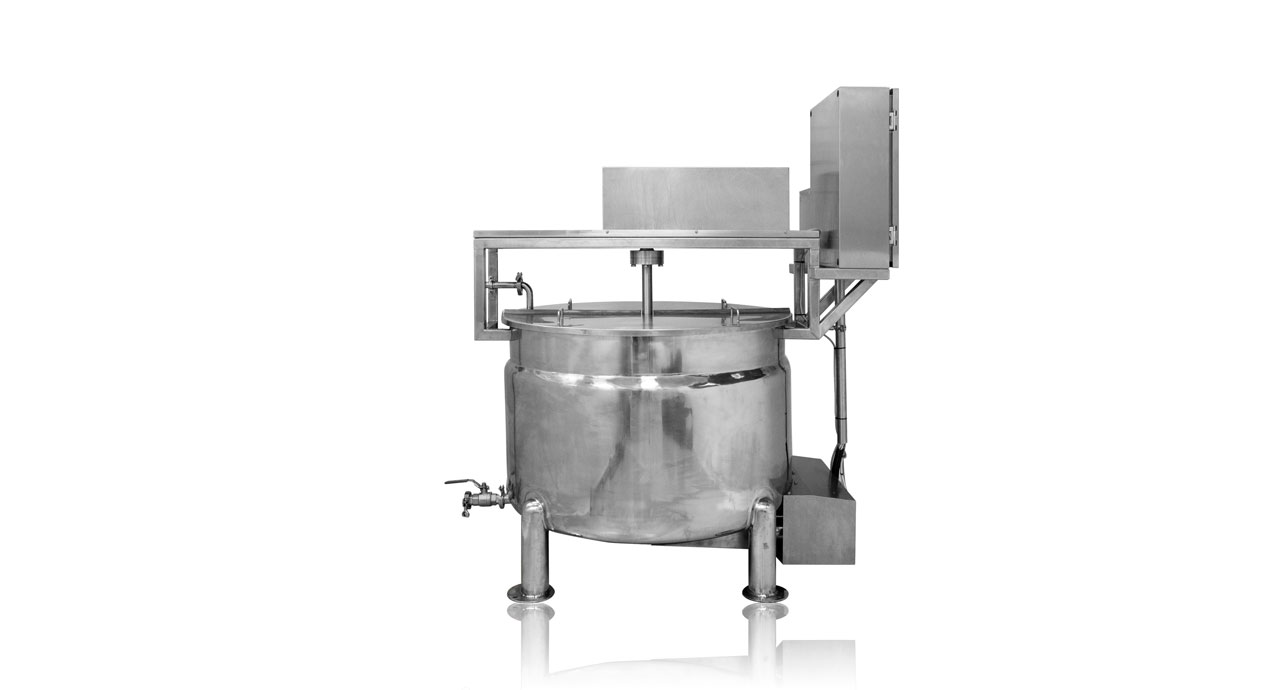 Kettle Mixer Cooker - Jacket heating transfer cooking, powered by steam or electrical heaters