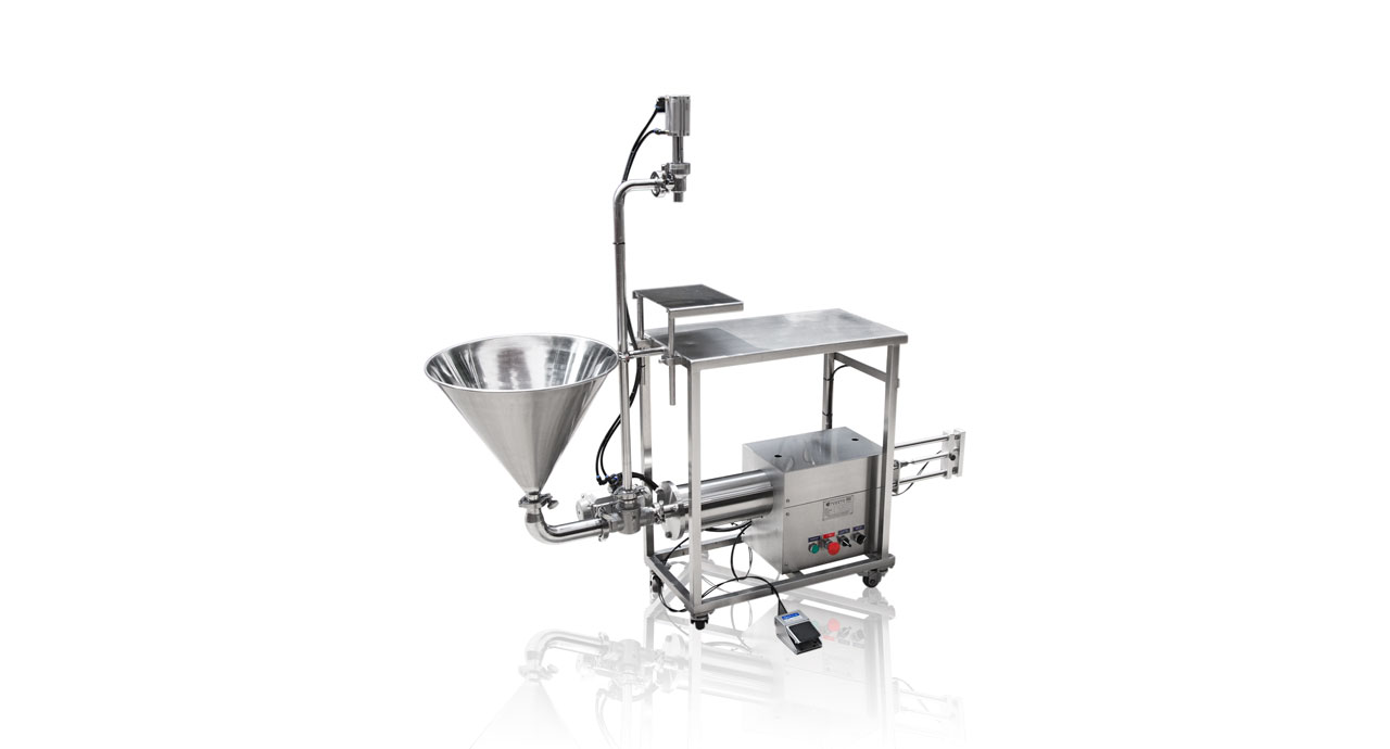 Volumetric Filler (2000ml) - Pneumatic filling machine for liquid, cream, paste or oil product.
