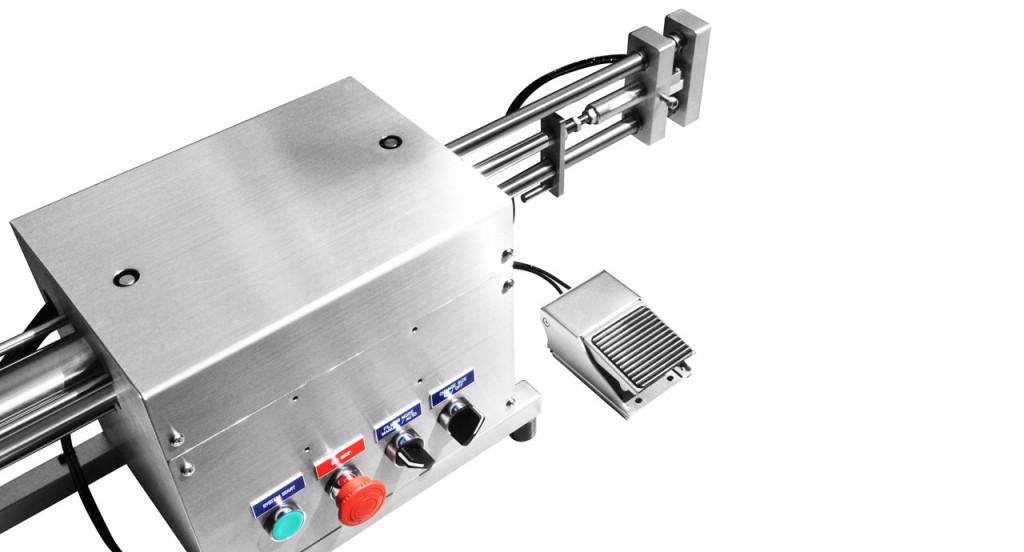 Volumetric Filler (250ml) - Pneumatic filling machine for liquid, cream, paste or oil product.