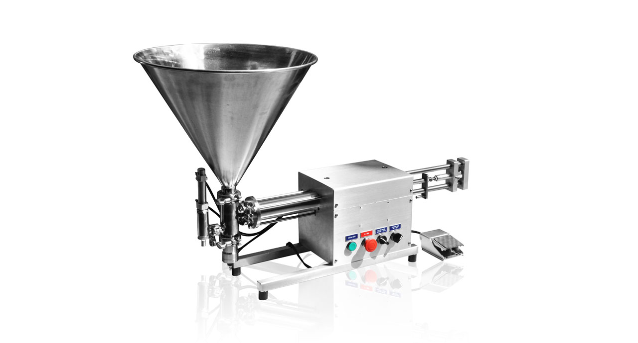Volumetric Filler (250ml) - Pneumatic filling machine for liquid, cream, paste or oil product.