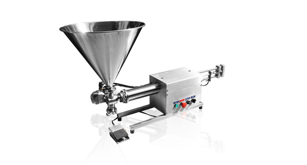 Volumetric Filler (500ml) - Pneumatic filling machine for liquid, cream, paste or oil product.