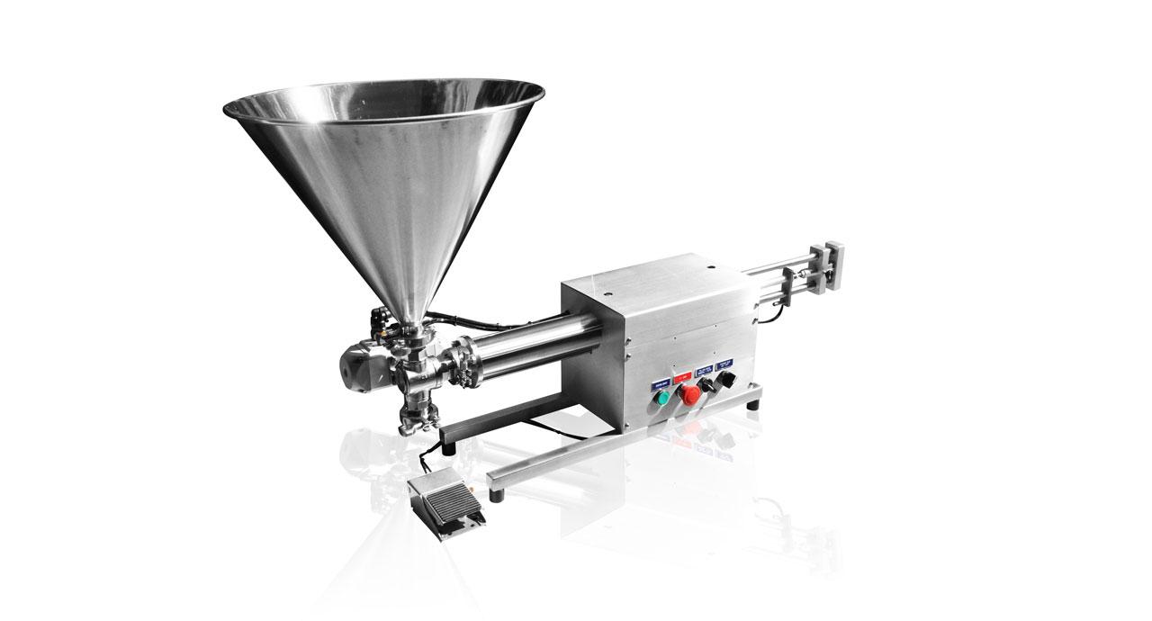 Volumetric Filler (500ml) - Pneumatic filling machine for liquid, cream, paste or oil product.