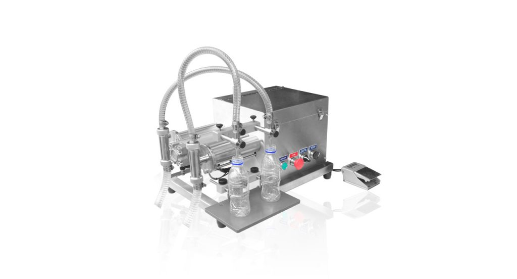Volumetric filling machine for low viscosity fluid by Kong Shiang Engineering.